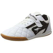 KangaROOS Unisex-Kinder Power Comb EV Sneaker, Weiß (White/Jet Black), 27 EU