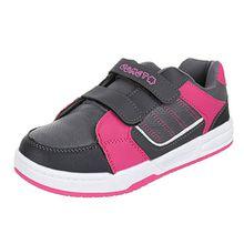Kinder Schuhe, FT-4, FREIZEITSCHUHE, SPORTLICHE SNEAKERS, Synthetik in hochwertiger Lederoptik , Grau Rosa, Gr 32