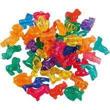 Figurperlen, Größe 25 mm, Lochgröße 4 mm, Sortierte Farben, Tiere, 2000ml, 1.000 g
