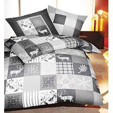 Kaeppel Feinbiber Bettwäsche Winterquilt Größe 135x200+80x80 cm Farbe Silber