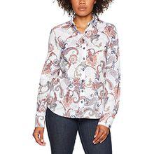 eterna Damen Bluse Comfort Fit Langarm Bunt Bedruckt mit Hemd-Kragen, Mehrfarbig (Bunt 13), 46