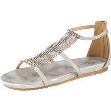 Alma en Pena Klassische Sandalen silber Damen