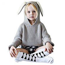 belababy Baby-Pullover nette Kaninchen-Ohr-Kleinkind -Stricken Pullover