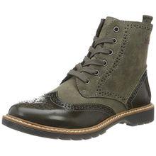 s.Oliver Damen 25465 Combat Boots, Grün (Khaki 701), 38 EU