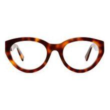 VIU - The Vain Korrekturbrille mit großem, ovalen, modernem Cat Eye und Acetat Gestell in Cherrywood Shiny