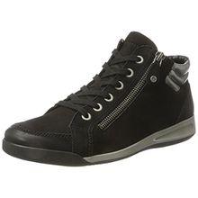 ara Damen Rom-Stf 12-44410 Hohe Sneaker, Schwarz (schwarz,gun), 42 EU (8 UK)