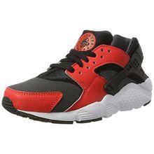 Nike Kinder und Jugendliche Huarache Run GS Sneakers, Mehrfarbig (Max Orange/Black-Black-Anthracite), 38.5 EU