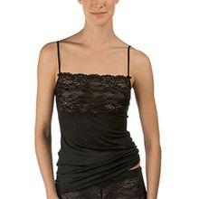 Calida Damen Unterhemd Sweet Secrets, Gr. 50 (Herstellergröße: L=48/50), Schwarz (schwarz 992)