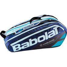 Babolat - Racket Holder X12 Pure Wimbledon Tennistasche (blau/weiß)