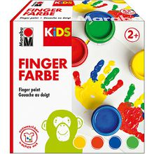 KIDS Fingerfarbe, 4 x 100 ml