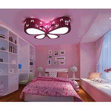 LEDMLSH Rosa Schmetterlings-LED-Deckenleuchten für Schlafzimmer-Mädchen und Babys 3 PCS LED