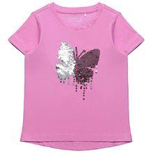 ESPRIT Mädchen T-Shirt RK10443 Rosa (Camelia 355), 104-110 cm (Herstellergröße: 4-5 Jahre)