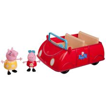 Peppa Pig großes rotes Auto m. 2 Figuren