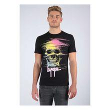 Kaporal T-Shirt Nopia Black mit auffälligem Print auf der Front T-Shirts schwarz Herren