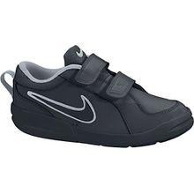 Nike Pico 4, Unisex-Kinder Sneakers, Schwarz (Black/Black-Metallic Silver), 33.5 EU (1.5 Kinder UK)