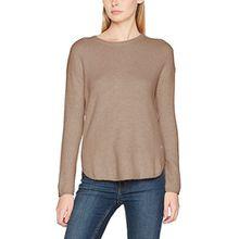 TOM TAILOR Damen Pullover Cozy Basic Sweater, Beige (Cashew Beige 8229), Large