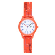LACOSTE Uhr royalblau / dunkelorange / weiß
