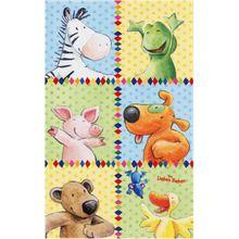 Kinderteppich Die Lieben Sieben, 140 x 200 cm mehrfarbig