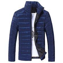 Herren Jacke, Kavitoz Mode Mantel Schlank Übergangsjacke Cool Men Coat Cool Sweatjacke Outdoor (L, Blau)