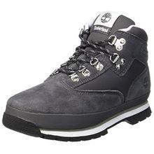 Timberland Unisex-Kinder Euro Hiker Leather and Fabric Chukka Boots, Grau (Forged Iron), 39 EU