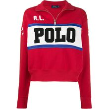 Polo Ralph Lauren Sweatshirt mit Logo-Stickerei - Rot
