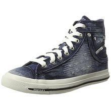Diesel Damen Magnete Exposure IV Mid Hohe Sneaker, Blau (Indigo), 39 EU