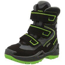 Lowa Unisex-Kinder Milo GTX Hi Trekking-& Wanderstiefel, Schwarz (Schwarz/Limone), 30 EU