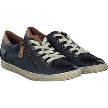 Paul Green 4128-042 Damen Sneaker aus Hochwertigem Leder Filigrane Kontrastnähte, Groesse 9, Dunkelblau