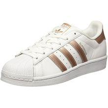 adidas Damen Superstar Sneaker, Weiß (Ftwwht/Supcol/Ftwwht), 38 2/3 EU