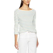 SELECTED FEMME Damen Langarmshirt Sfnive Stripe LS Knit Pullover Noos, Mehrfarbig (Skyway Stripes:Natural Base), 34 (Herstellergröße: XS)