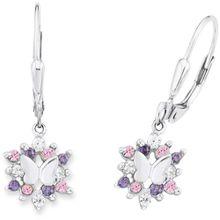 PRINZESSIN LILLIFEE Paar Ohrhänger »Schmetterling PLFS/80« lila / rosa / silber