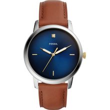 FOSSIL Uhr 'THE MINIMALIST 3H' dunkelblau / cognac