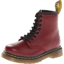 Dr. Martens BROOKLEE Softy T CHERRY RED, Unisex-Kinder Bootsschuhe, Rot (Cherry Red), 24 EU (7 Kinder UK)