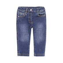 Steiff Baby - Mädchen Jeans, 0006894 Trousers, GR. 128 (Herstellergröße:128), Blau