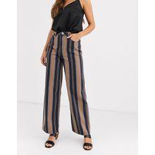 ASOS DESIGN - Rosie - Jeans mit gestreiftem Umschlag - Mehrfarbig