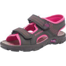 RICHTER Sandalen für Mädchen dunkelgrau / dunkelpink