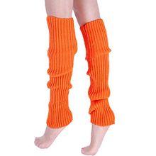 A&Z; Super Warme Damen Frauen Beinstulpen Stricken Stiefel Manschetten Socken Leg Knit Stulpen Warmers Socks Cuffs Knie 10 Farben (Orange)