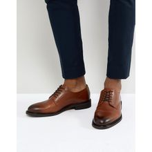 Selected Homme - Derby-Schuhe aus braunem Leder - Braun