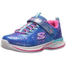Skechers Mädchen Jumpin'Jams-Cosmic Cutie Sneaker, Blau (Blue/Multicolour), 36 EU