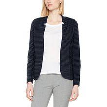 TOM TAILOR Damen Anzugjacke Loose Shape Blazer, Blau (Real Navy Blue 6593), 36 (Herstellergröße: S)