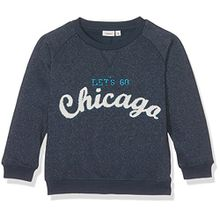 NAME IT Baby-Jungen Sweatshirt Nitdisave Sweat M Mini, Blau (Dress Blues Dress Blues), 92
