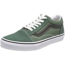 Vans Unisex-Kinder Old Skool Sneaker, Schwarz (Duck Green/Black Q7m), 36.5 EU