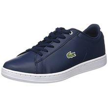 Lacoste Unisex-Kinder Carnaby Evo Bl 1 SPJ Sneaker, Blau (Nvy/Nvy), 37 EU