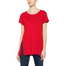 G-STAR RAW Damen T-Shirt ROA Straight Pocket R T Wmn s/s, Rot (Flame 5666), Medium