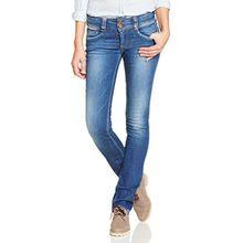 Pepe Jeans Damen Straight Jeans (gerades Bein) Straight Jeans Gen,Blau (Denim D45), W33/L32
