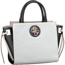 Guess Handtasche Open Road Society Satchel White Multi