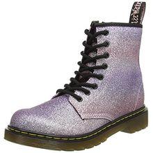 Dr. Martens Unisex-Kinder Delaney GLTR Pink Multi Glitter PU Stiefel, Pink (Pink Multi), 34 EU