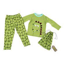 Sigikid Jungen Zweiteiliger Schlafanzug Pyjama, Mini, Grün (Herbal Garden 355), 128
