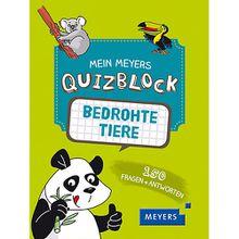 Buch - Mein Meyers Quizblock: Bedrohte Tiere