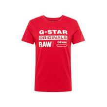 G-STAR RAW Shirt 'Graphic 8' rot / weiß